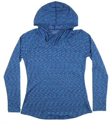 New Womens Columbia Golf Sweatshirt Large L Blue MSRP $65