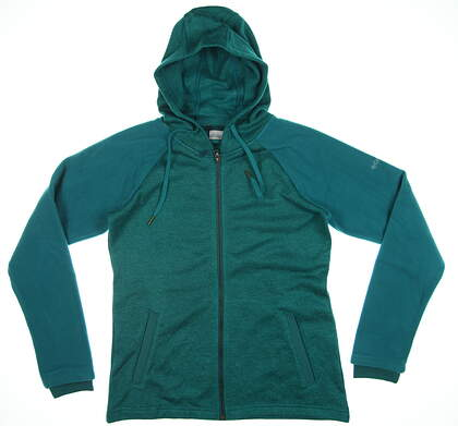 New Womens Columbia Darling Days Full Zip Sweatshirt Medium M Emerald Green C1874WL-EMD391 MSRP $89.99
