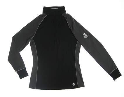 New W/ Logo Womens Footjoy 1/2 Zip Pullover X-Small XS Black/Grey MSRP $99.99