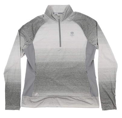New W/ Logo Mens Adidas Golf Pullover Large L Gray CE2998 MSRP $65