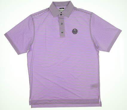 New W/ Logo Mens Footjoy Polo Medium M Purple/White MSRP $75.99