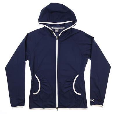 New Womens Puma Golf Wind Jacket Small S Peacoat 577942-03 MSRP $75