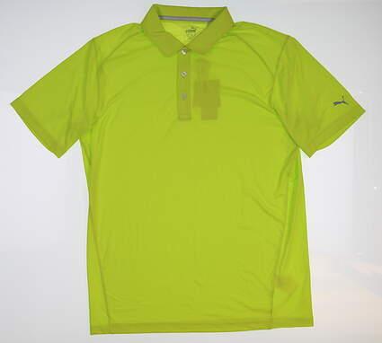 New Mens Puma Pounce Polo Medium M Acid Lime Green 570463 MSRP $54.99