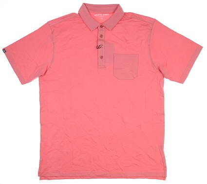 New Mens MATTE GREY Polo Large L Desert Rose/Pink S-110125 MSRP $79.99