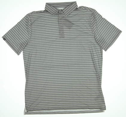 New Mens MATTE GREY Brody Polo Large L Gray Terrain/White MSRP $74.99