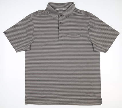 New Mens MATTE GREY Neux Tec Polo Large L Smoke Gray S-110126 MSRP $74.99