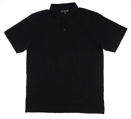 New Mens MATTE GREY Colonel Polo Large L Black S-110123 MSRP $74.99