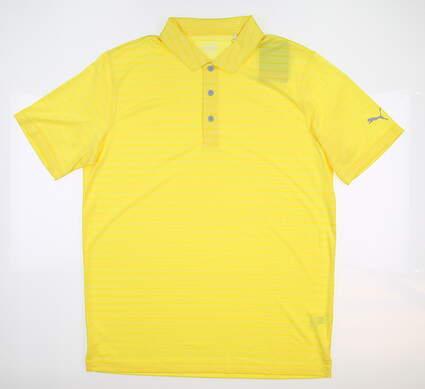 New Mens Puma Golf Polo Medium M Yellow MSRP $60