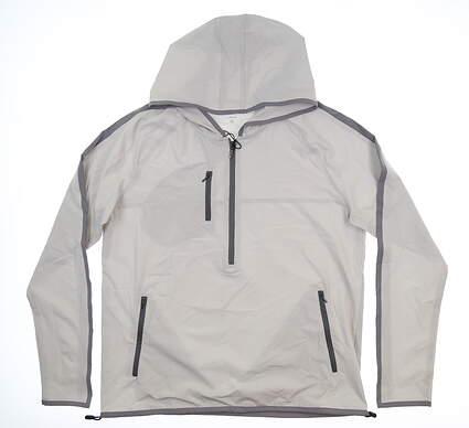 New Mens MATTE GREY 1/2 Zip Pullover Large L Light Grey/Charcoal S-127104 MSRP $124.99