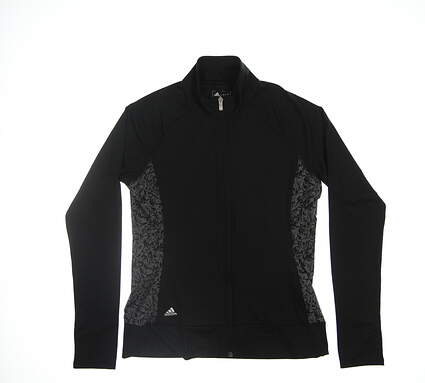 New Womens Adidas Pullover Small S Black/Grey BC7387 MSRP $74.99