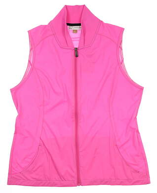 New Womens EP NY Golf Vest Large L Pink MSRP $100
