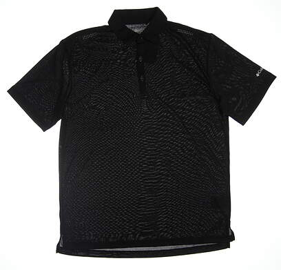New Mens Columbia Golf Polo Large L Black 19S47MP MSRP $80