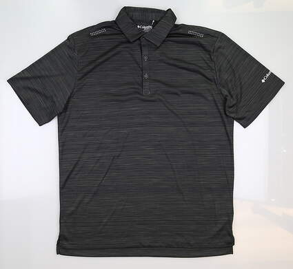 New Mens Columbia Golf Polo Large L Slate MSRP $80