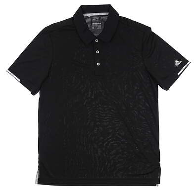 New Mens Adidas Polo Medium M Black BC2961 MSRP $69.99