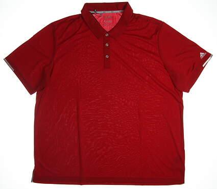 New Mens Adidas Golf Polo XXX-Large XXXL Red MSRP $70