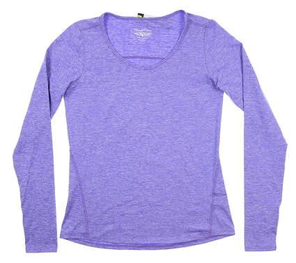 New Womens Straight Down Long Sleeve Medium M Purple W14199 MSRP $72