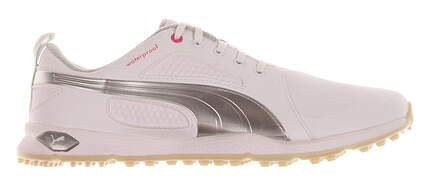 New Womens Golf Shoe Puma BioFly 6 White/Silver MSRP $100