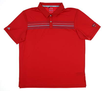 New W/ Logo Mens Adidas Polo X-Large XL Red BC2979