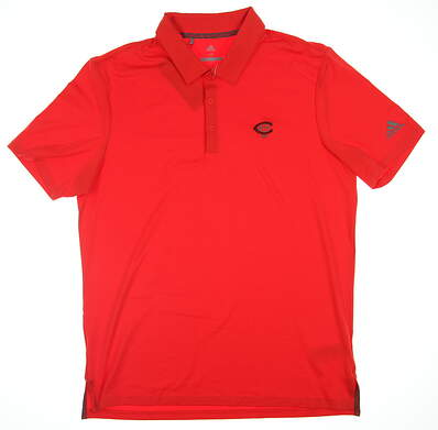 New W/ Logo Mens Adidas Ultimate 365 Solid Polo Medium M Hirere Red CE0011 MSRP $69.99