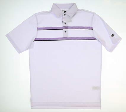 New W/ Logo Mens Footjoy Polo XX-Large XXL White/Purple/Black 20039 MSRP $74.99
