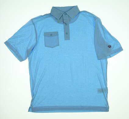 New W/ Logo Mens Footjoy Polo Large L Blue 25552 MSRP $69.99