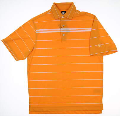 New W/ Logo Mens Footjoy Golf Polo Medium M Orange 21285 MSRP $70