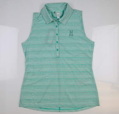 New W/ Logo Womens Under Armour Sleeveless Golf Polo Large L Green UW0457 MSRP $68