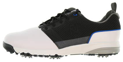 New Mens Golf Shoe Footjoy ContourFIT Medium 9.5 White/Black MSRP $100