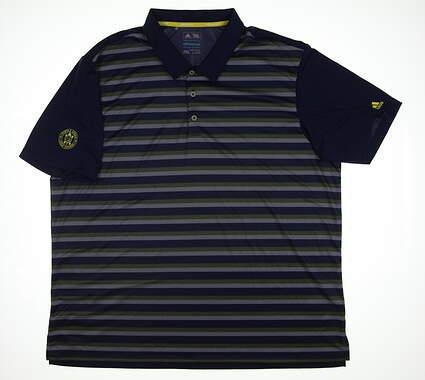 New W/ Logo Mens Adidas Golf Polo XX-Large XXL Blue BC2075 MSRP $65