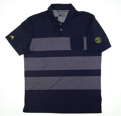 New W/ Logo Mens Adidas Golf Polo XX-Large XXL Blue BC2182 MSRP $65