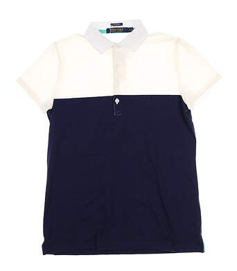 New Womens Ralph Lauren Polo Small S White/Navy Color Block MSRP $94.99