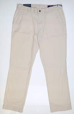 New Mens Vineyard Vines Golf Pants 34 x30 Sand 1P1291 MSRP $98