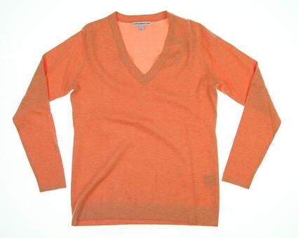 New Womens Peter Millar Golf Sweater X-Small XS Orange MSRP $85