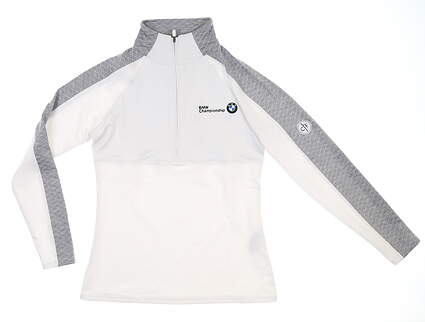 New W/ Logo Footjoy Golf 1/2 Zip Pullover X-Small XS White 27519 MSRP $129