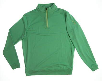New with logo Peter Millar Womens Golf 1/4 Zip Pullover Medium M Green MSRP $115