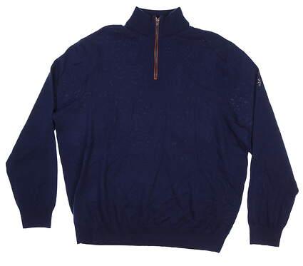 New W/ Logo Mens Ralph Lauren Sweater XX-Large XXL Navy Blue 781560660007 MSRP $188.99