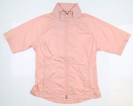New Womens Zero Restriction Kelly SS Wind Jacket Small S Cameo W333L