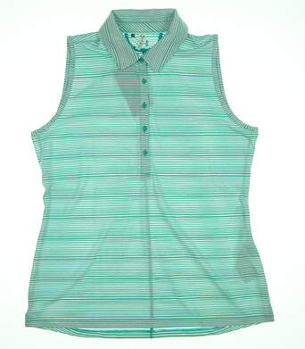 New Womens Under Armour Sleeveless Golf Polo X-Large XL Green UW0457 MSRP $75