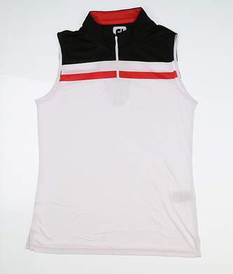 New Womens Footjoy Color Block Sleeveless Polo Medium M Multi MSRP $72 24704