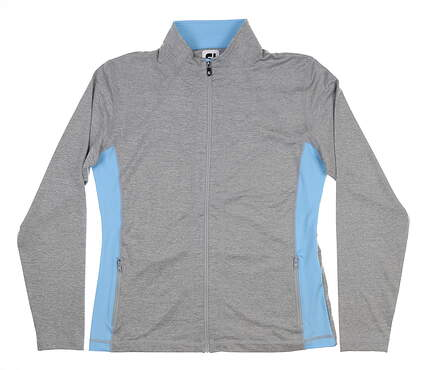 New Womens Footjoy Full Zip Mid Layer Medium M Gray 27570
