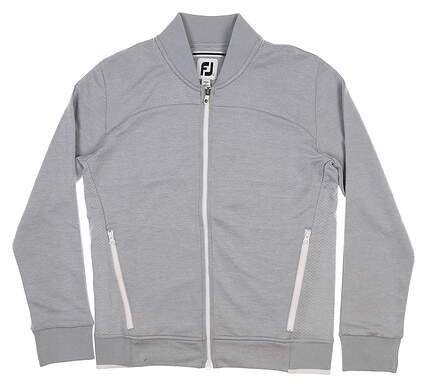 New Womens Footjoy Bomber Jacket Small S Gray 27558