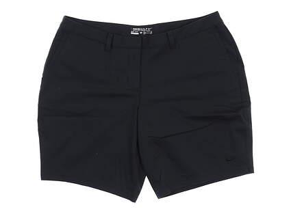 New Womens Nike Golf Shorts 12 Black 831319 MSRP $85