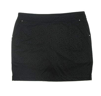 New Womens Greg Norman Golf Skort X-Large XL Black MSRP $80