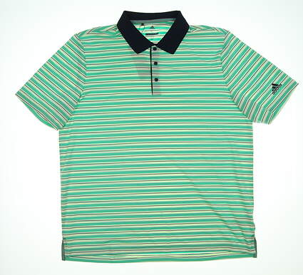 New Mens Adidas Polo X-Large XL Green/White/Navy TM1371S8 MSRP $74.99