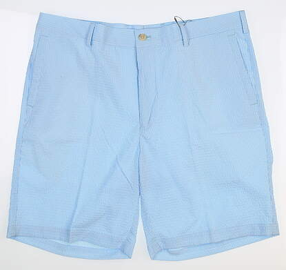 New Mens Peter Millar Golf Shorts 35 Blue MS18EB91 MSRP $95