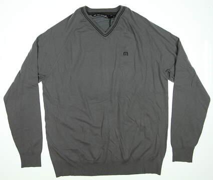 New Mens Travis Mathew Sweater Large L Gray MSRP $109.99