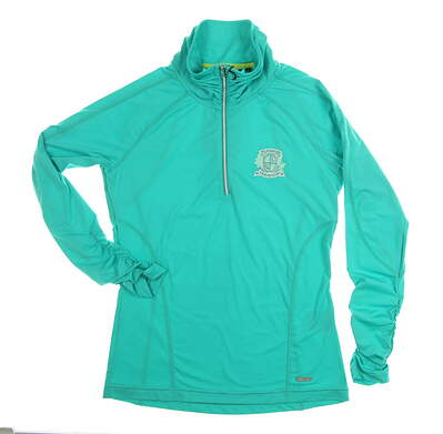 New W/ Logo Womens SUNICE Golf Pullover Small S Green MSRP $99 S71500