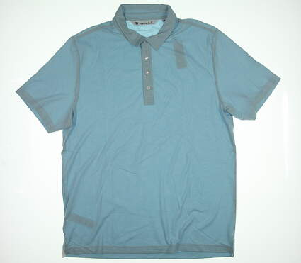 New Mens Travis Mathew Golf Polo X-Large XL Cool Blue 1MH190 MSRP $78