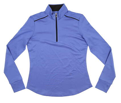 New Womens Greg Norman 1/4 Zip Pullover Small S Blue/Black G2S5K689 MSRP $78.99