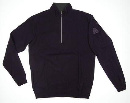 New W/ Logo Mens Straight Down 1/4 Zip Sweater Medium M Purple 60270 MSRP $108